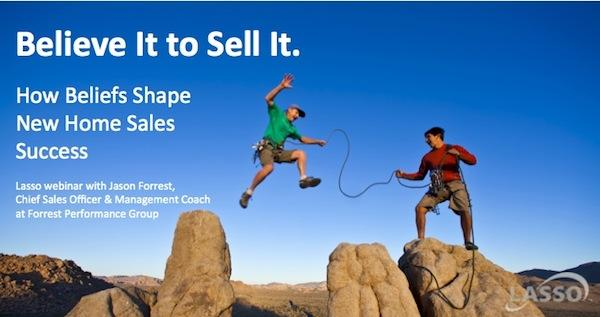 Hiker jumping from rock - Lasso Webinar with Jason Forrest - Believe It to Sell It