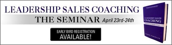 Leadership Sales Coaching, The Seminar