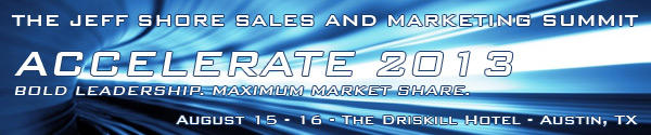 Jeff Shore Sales and Marketing Summit banner