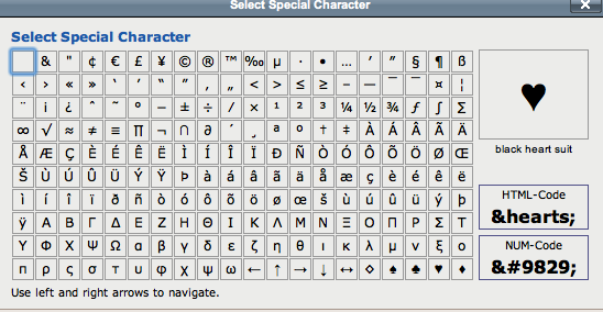 Lasso special characters