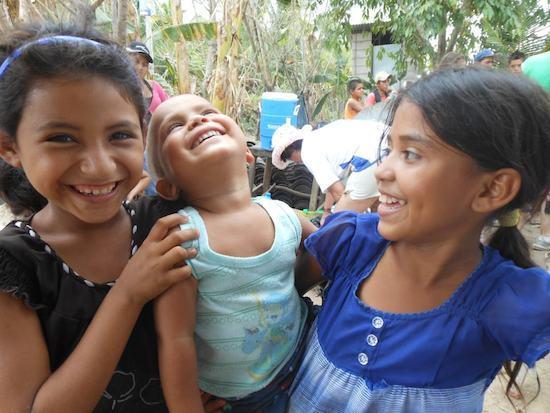 Smiling children in El Salvador