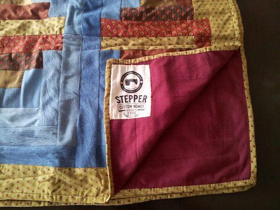 Stepper Custom Homes quilt handmade by The Sowers of Jireh in El Salvador