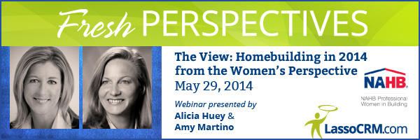 "Alicia Huey and Amy Martino present ""The View: Homebuilding in 2014 from the Women's Perspective"" on May 29, 2014"