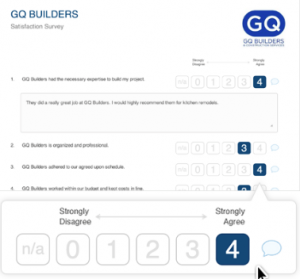 Sample GuildQuality Survey