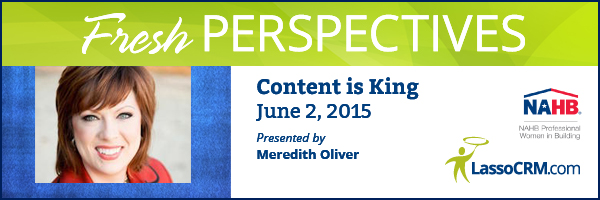 Fresh Perspectives 2015 Webinar with Meredith Oliver