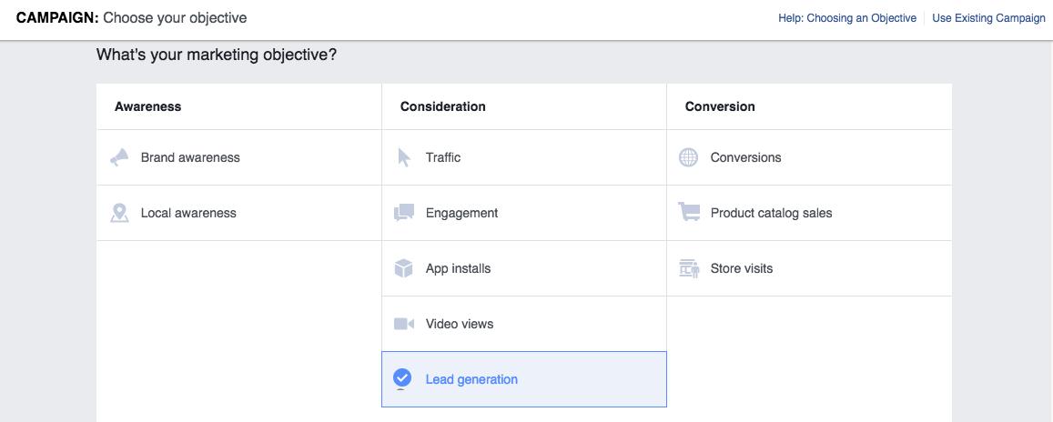 Facebook Lead Generation Campaign