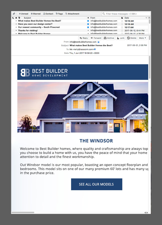 email design that is too wide