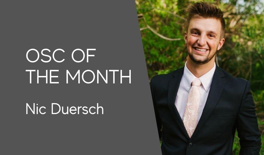 OSC of the Month | Nic Duersch